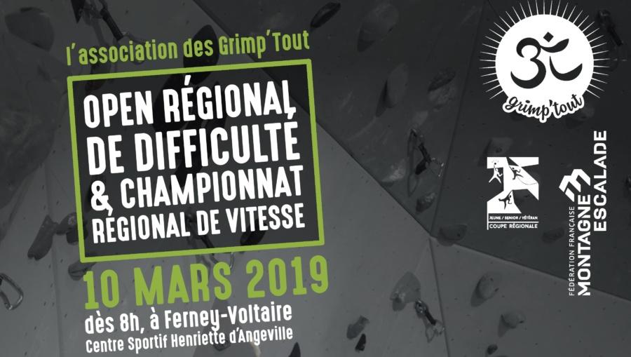 open regional de difficulté championnat regional escalade vitesse
